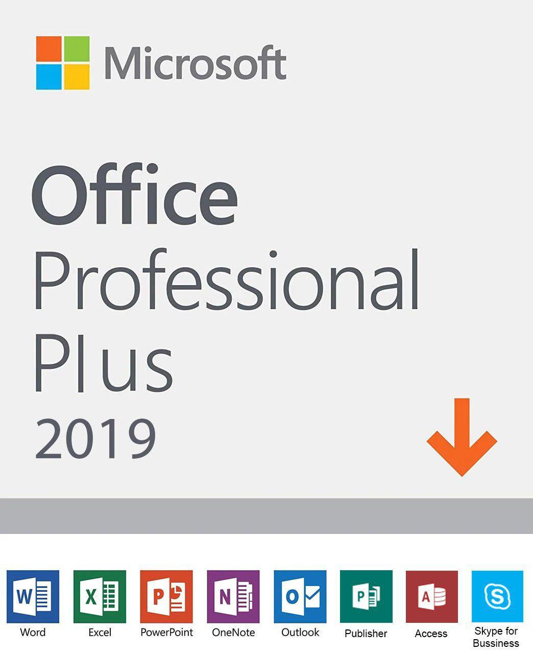 Microsoft Office 2019 Professional Plus, Full Retail Version for 1 PC,  Windows 10