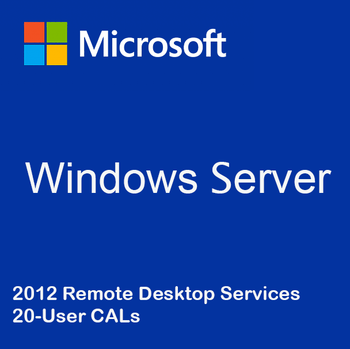 Windows Server 2012 Remote Desktop Services - 20 User CALs