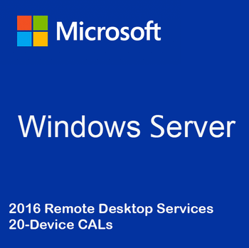 Windows Server 2016 Remote Desktop Services - 20 Device CALs