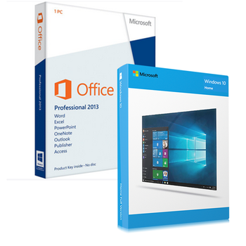 Windows 10 Home  + Office 2013 Professional Bundle