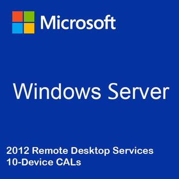 Windows Server 2012 Remote Desktop Services - 10 Device CALs