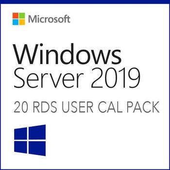 Windows Server 2019 Remote Desktop Services 20 User CALs Pack