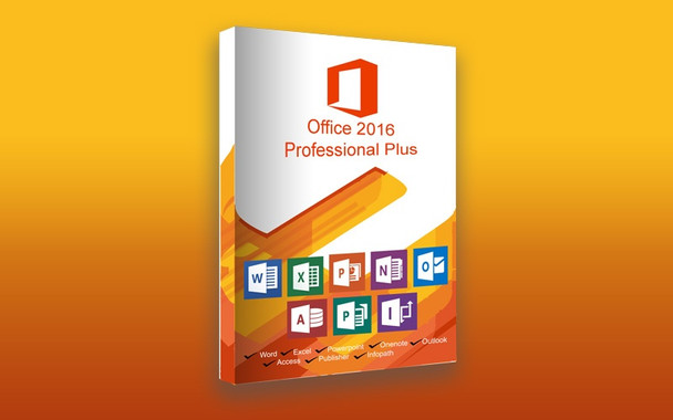 Microsoft Office Professional Plus 2016, 32/64 Bit, Full Retail Version