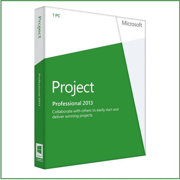 Microsoft Project Professional 2013, 32/64 Bit, Full Retail Version, Instant Download