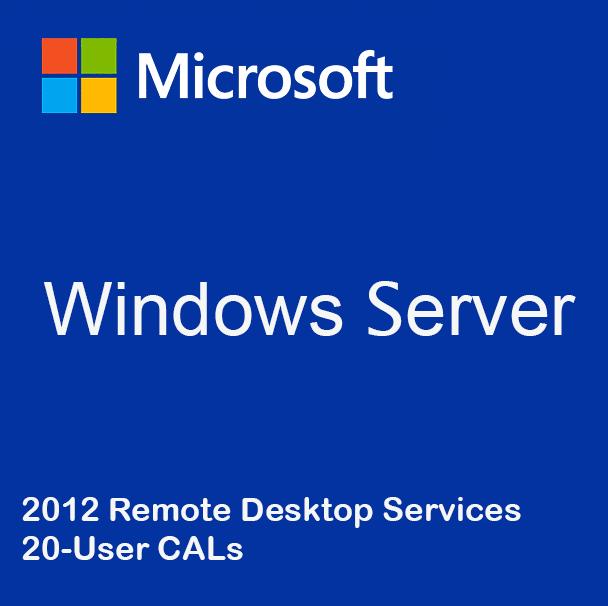 Windows Server 2012 Remote Desktop Services - 20 User CALs