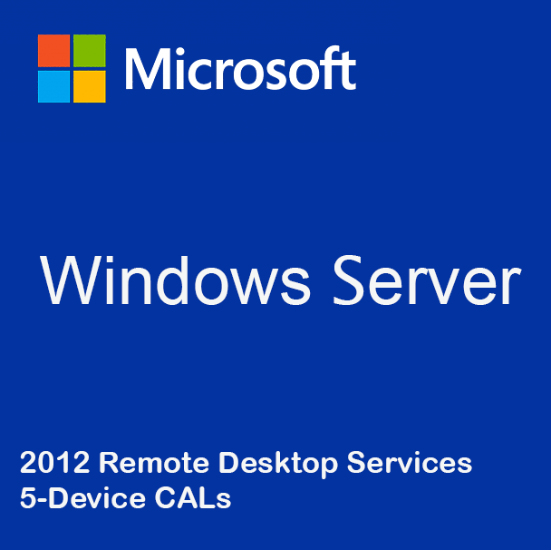 Windows Server 2012 Remote Desktop Services - 5 Device CALs