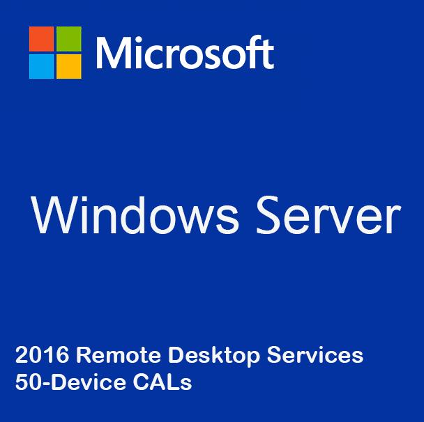 Windows Server 2016 Remote Desktop Services - 50 Device CALs