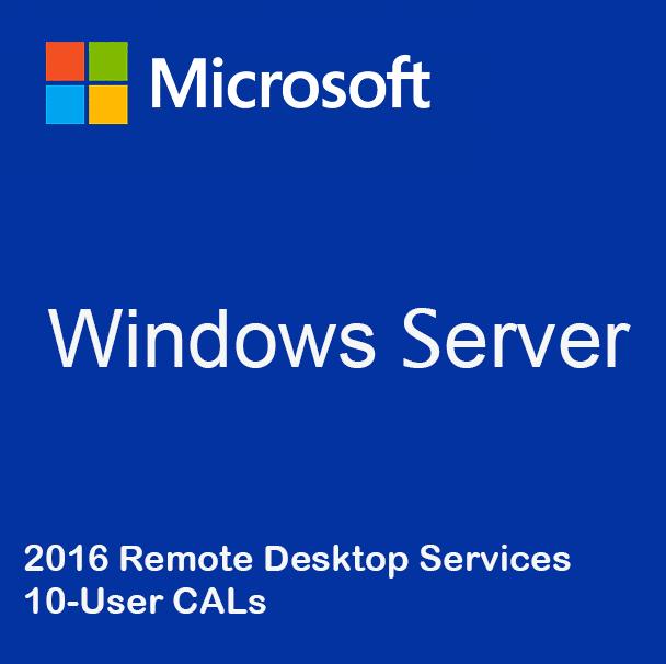 Windows Server 2016 Remote Desktop Services - 10 User CALs
