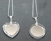 2D pendants in heart or circular shapes