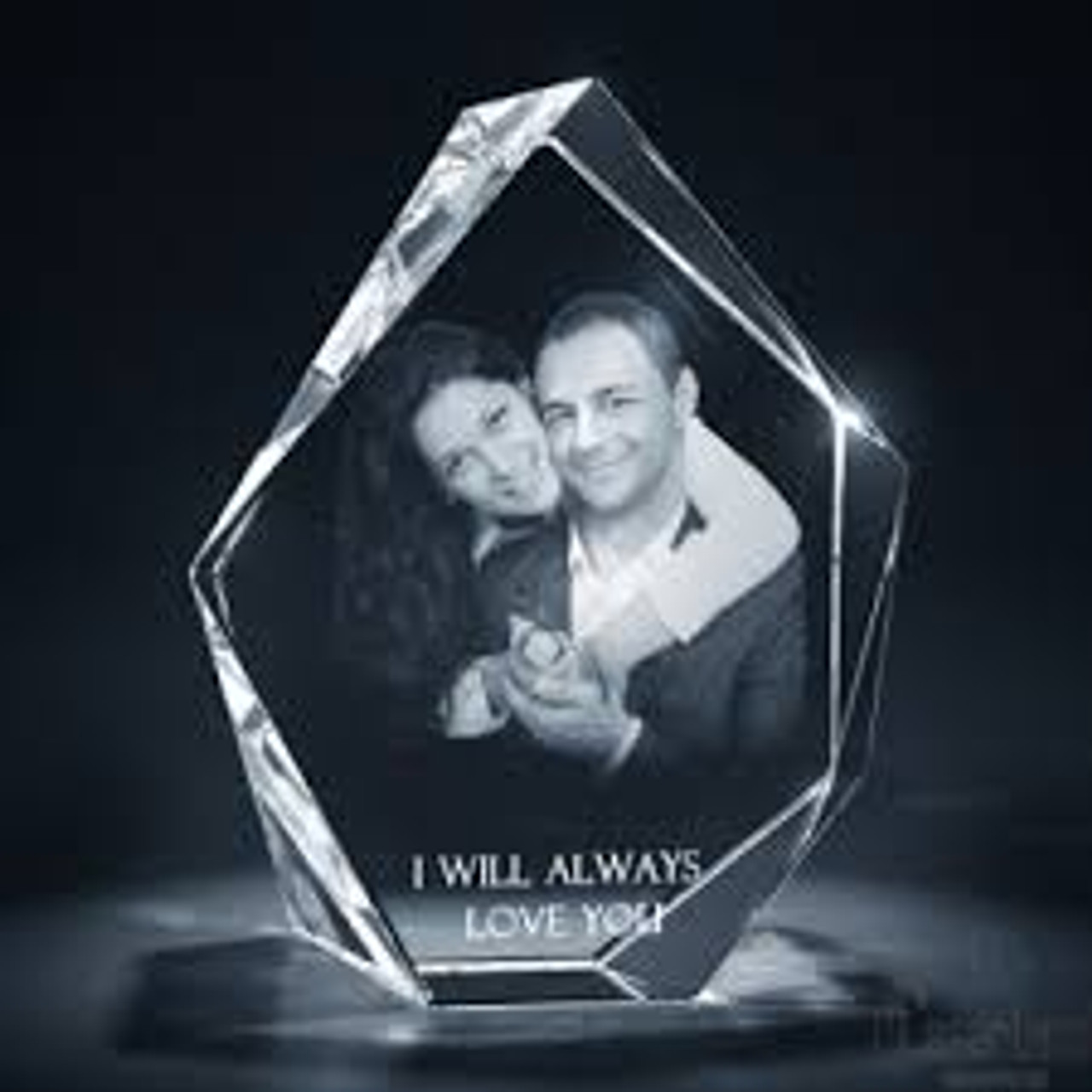 Iceberg Shaped Award or Memorial Crystal  - 3 sizes available