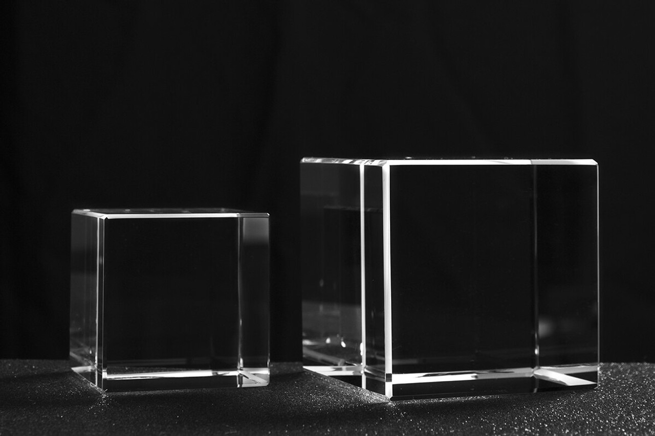 Classic Cube Shaped Crystal 2 sizes