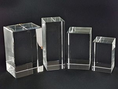 Rectangle Shaped Crystals for 3D Photos - 4 sizes available
