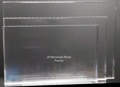 3 sizes of 2D photo frames