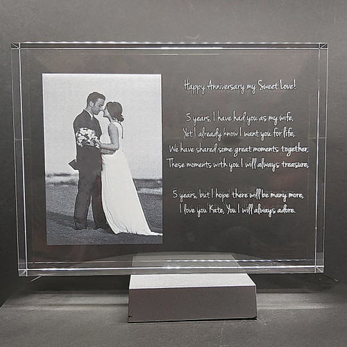 3D Budget Photo Frame - three sizes for anniversaries