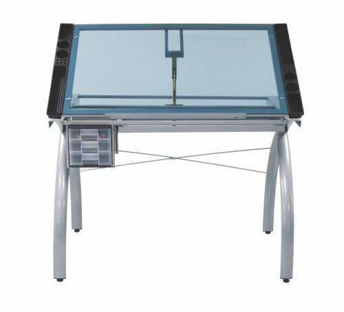 Studio Designs Futura Glass Top Craft Station Table