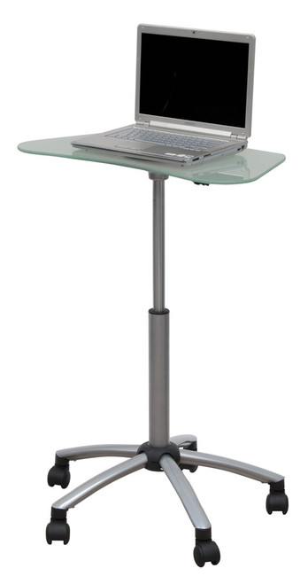 Studio Designs Vision Mobile Cart / Silver / Frosted Glass