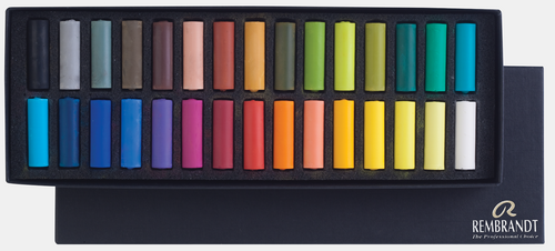 Rembrandt Soft Pastel Cardboard Box Set - 30 Half Stick Selection (31823114)