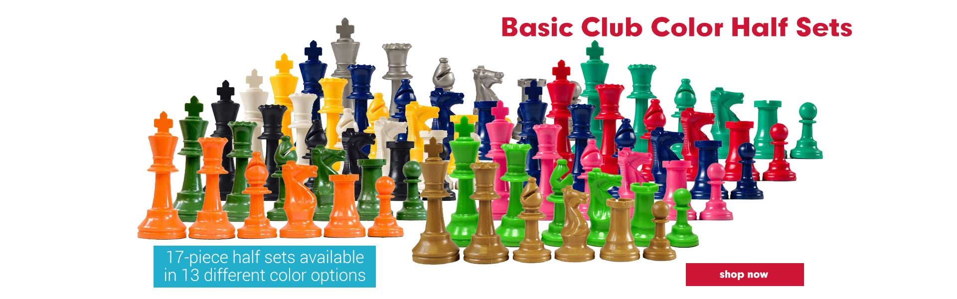 Basic Unweighted Colored Chess Pieces