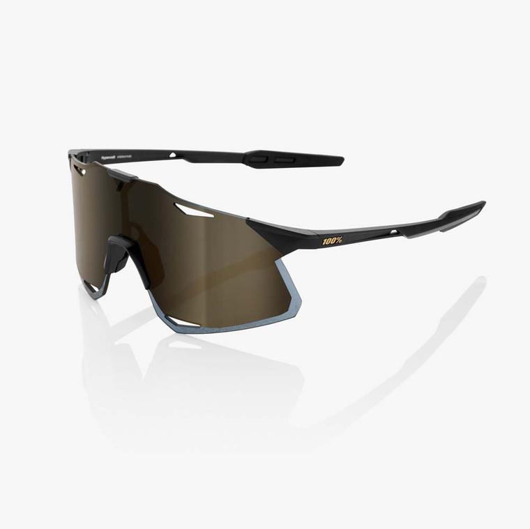2020 Hypercraft Matte Black & Soft Gold Mirror Lens + Clear Included Sport Performance Sunglasses