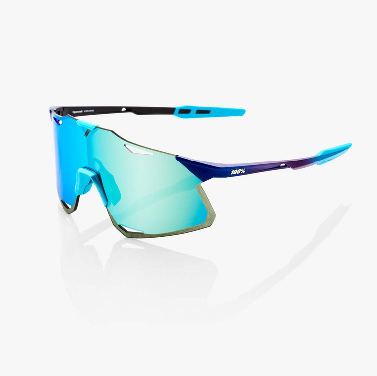 2020 Hypercraft Matte Metallic Into the Fade & Blue Topaz Multilayer Mirror Lens + Clear Included Sport Performance Sunglasses