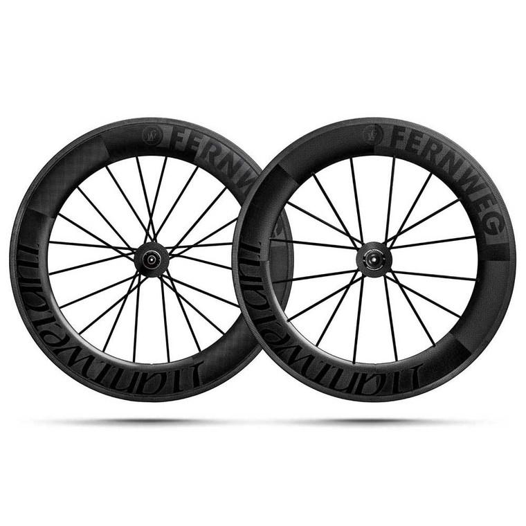 2020 Fernweg C 85 Clincher Schwarz ED Rim Brake Wheel Set