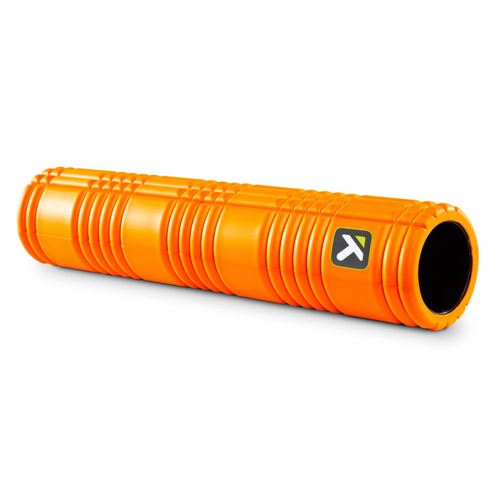 GRID 2.0 Foam Roller Orange sitting horizontally on a white background.