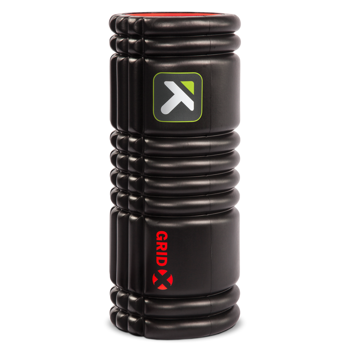 GRID X Foam Roller standing vertically on a white background.