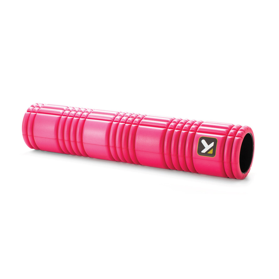 GRID 2.0 Foam Roller Pink sitting horizontally on a white background.