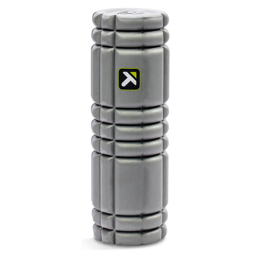 "CORE Foam Roller 18"" standing vertically on a white background."