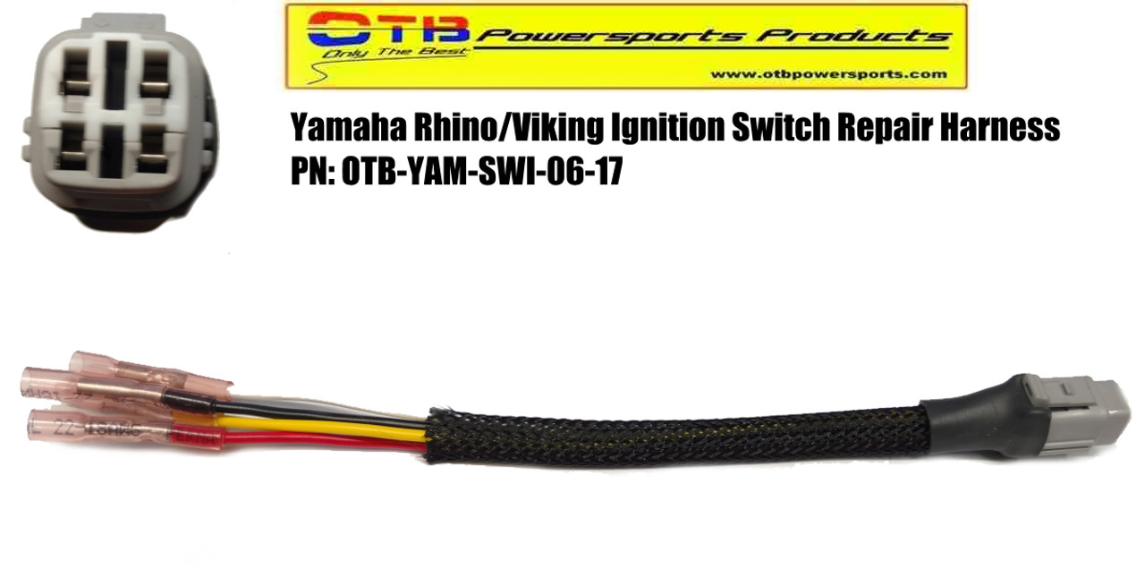 yamaha rhino ignition switch repair harness