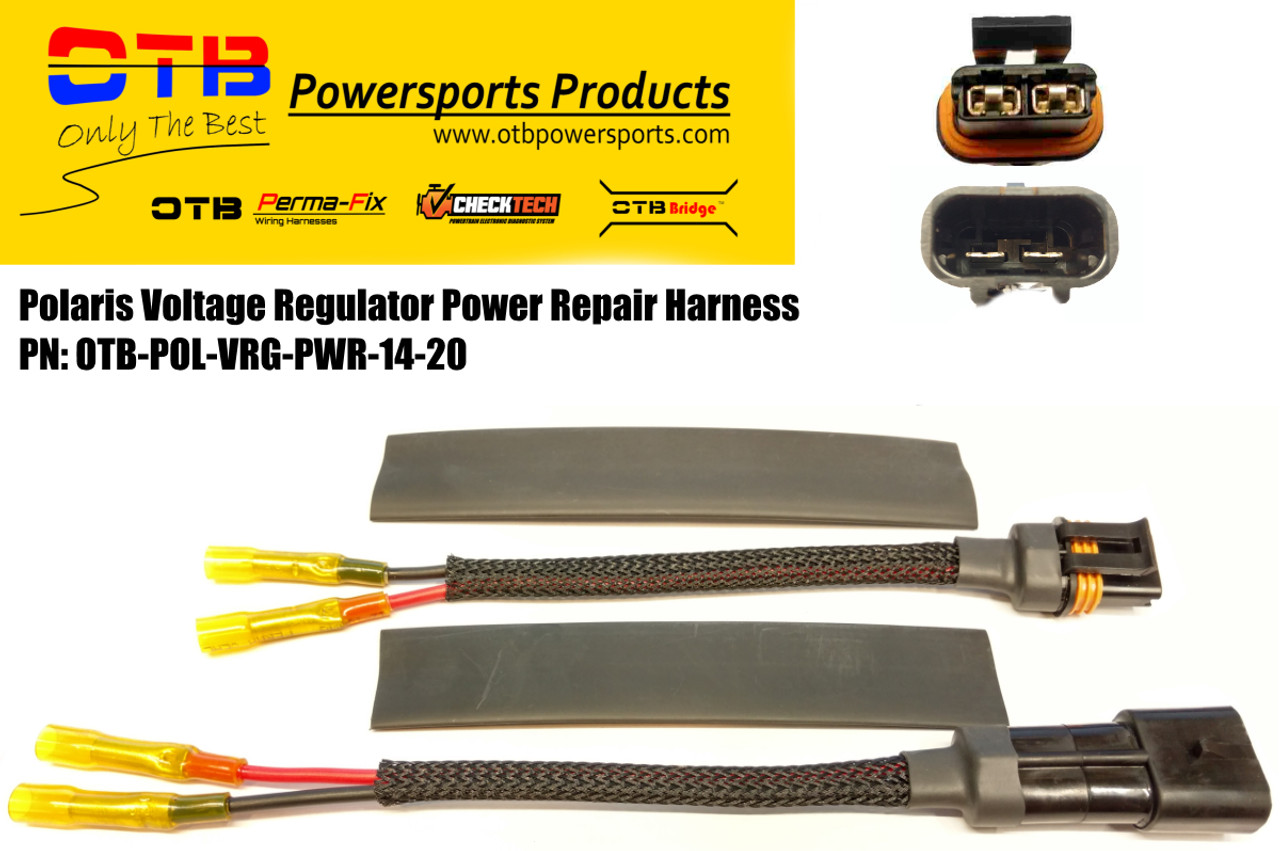 polaris voltage regualator wiring repair harness