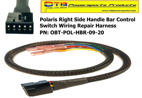 polaris right hand control switch wiring harness