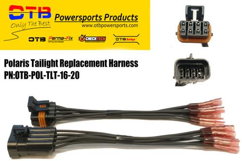 polaris main tail light repair harness set