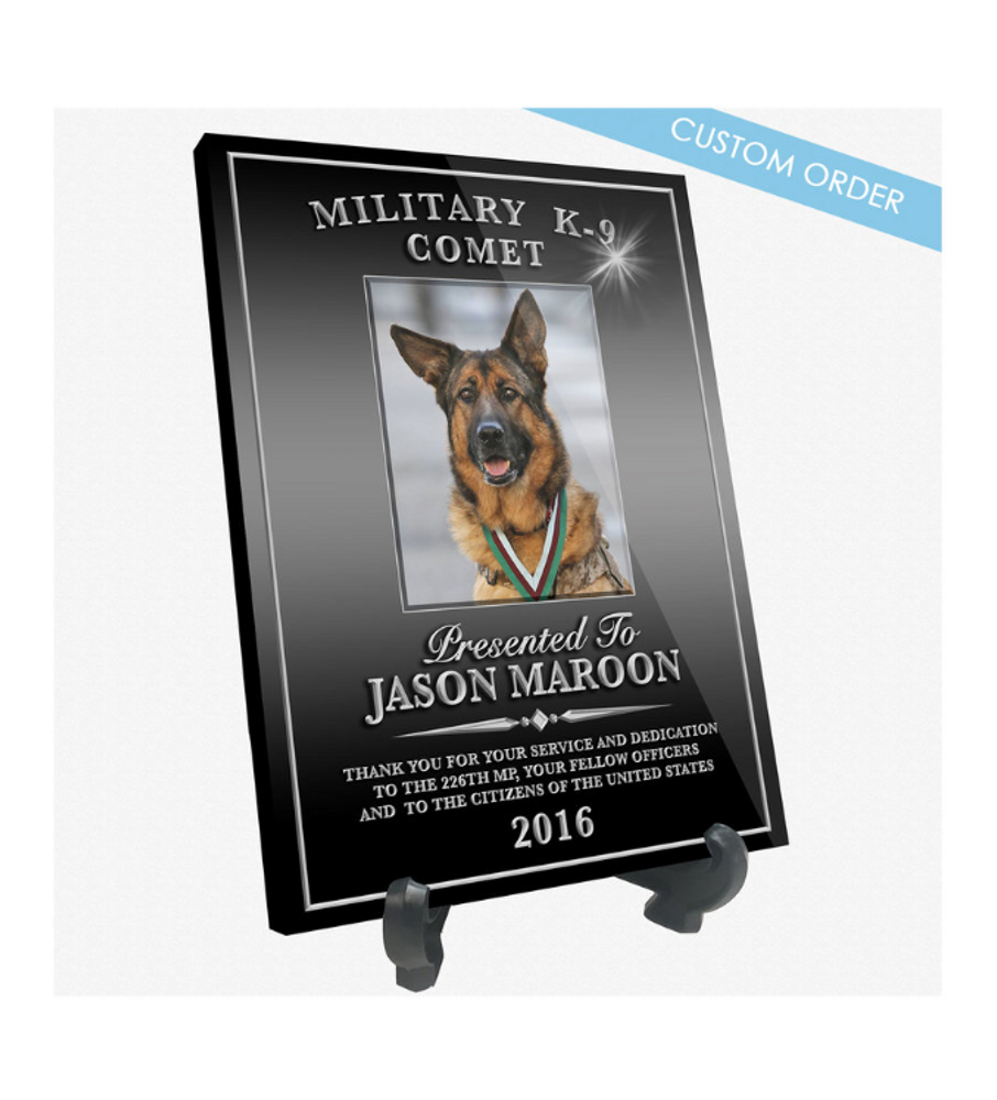 K9 RECOGNITION DESK PLAQUE (PHOTO)