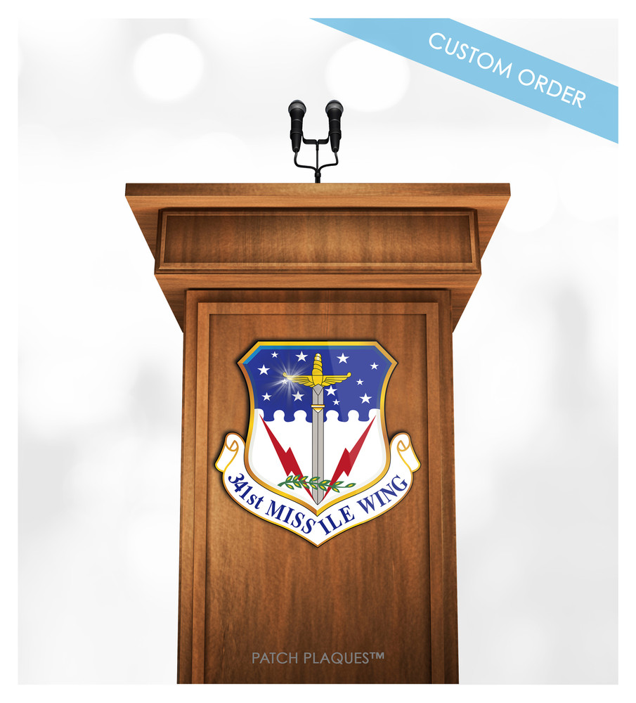 Custom Podium and Lectern Plaque for Military, Air Force, Navy, Army, Marines...
