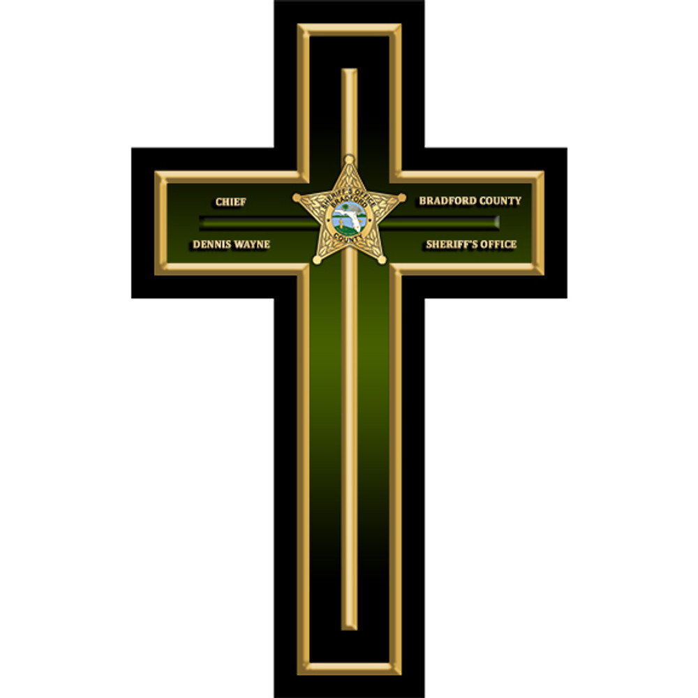 CUSTOM CROSS PLAQUE (Law Enforcement)
