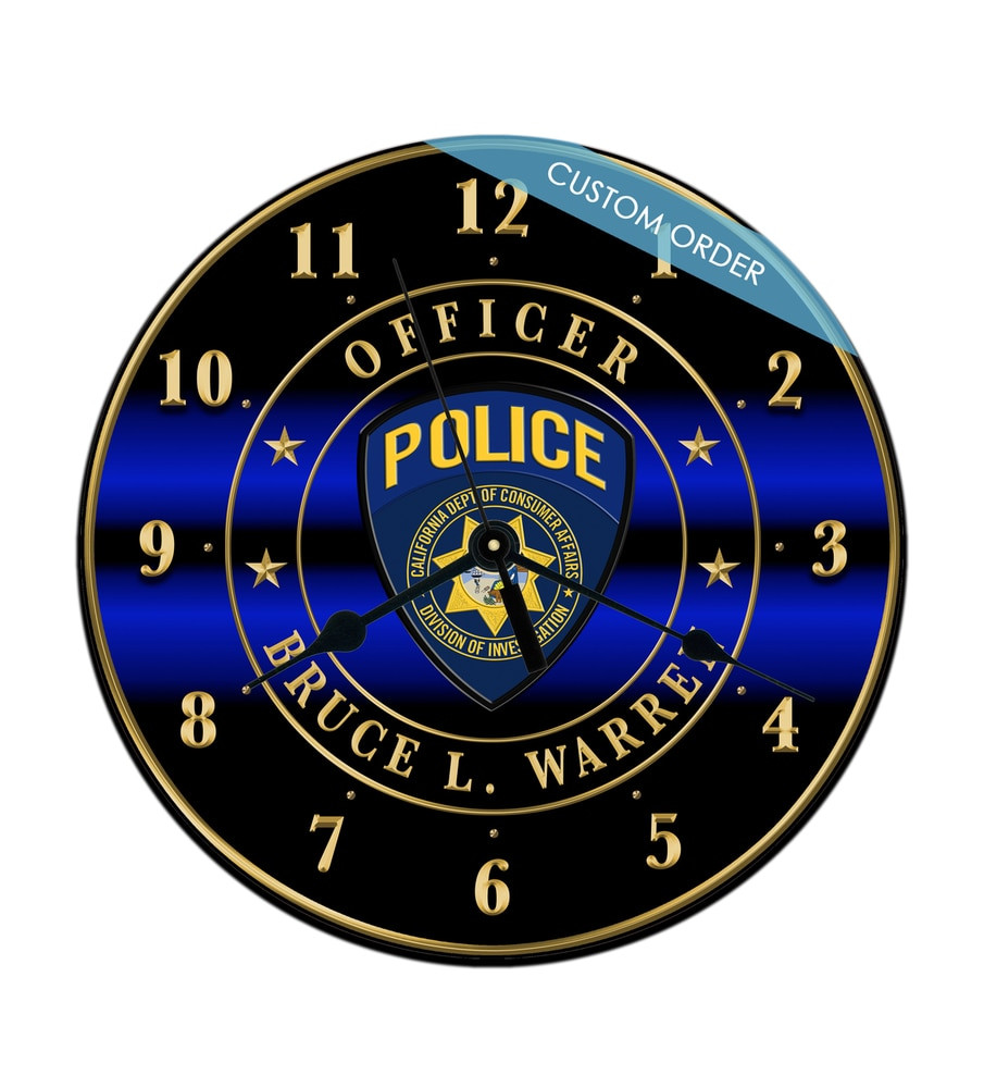 CUSTOM - PERSONALIZED 10'' ROUND CLOCK
