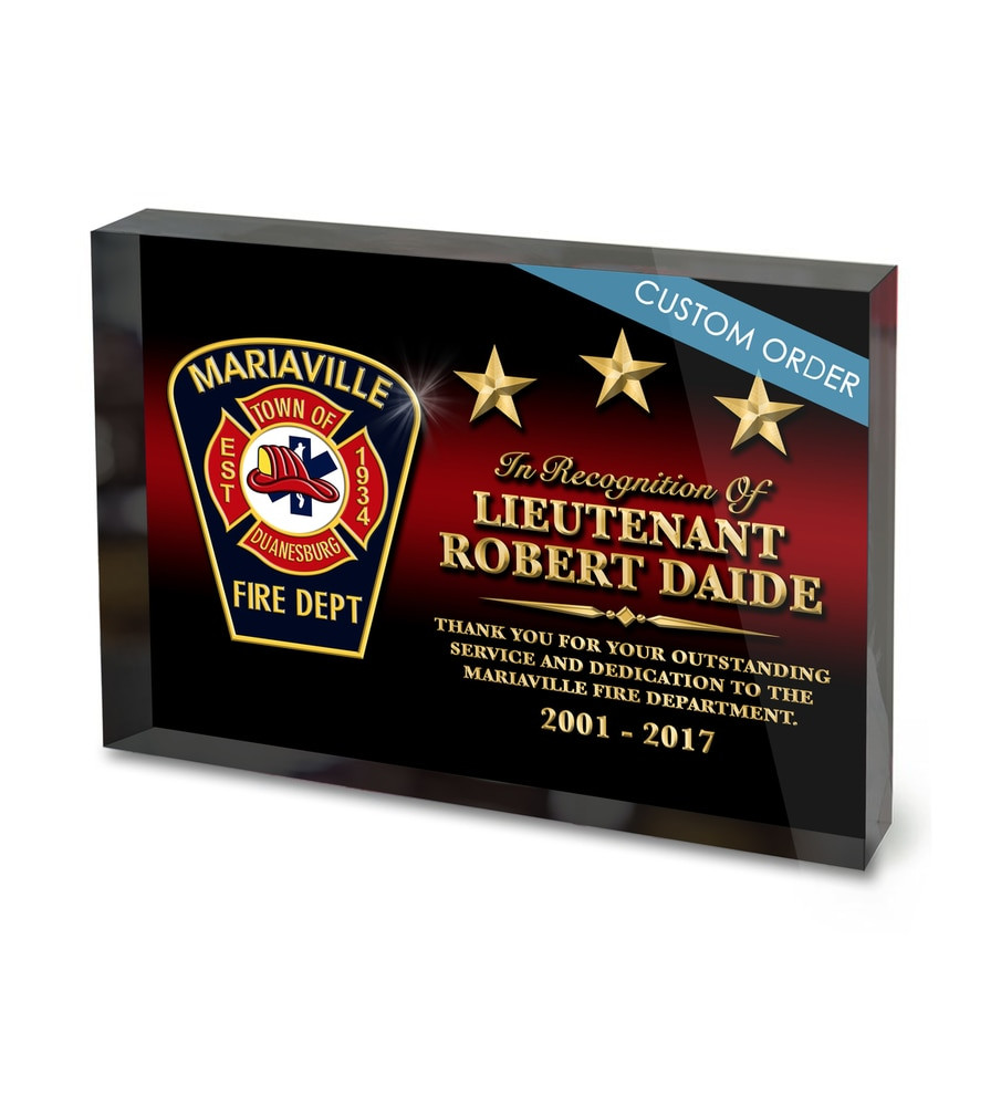 5 x 7 Custom Acrylic Block Recognition Award