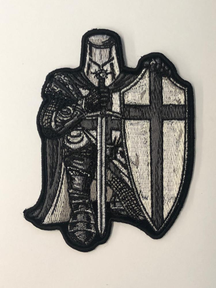 Crusader Knight in Black & White