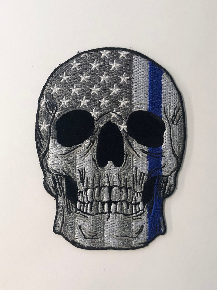 Skull with Thin Blue Line Patch