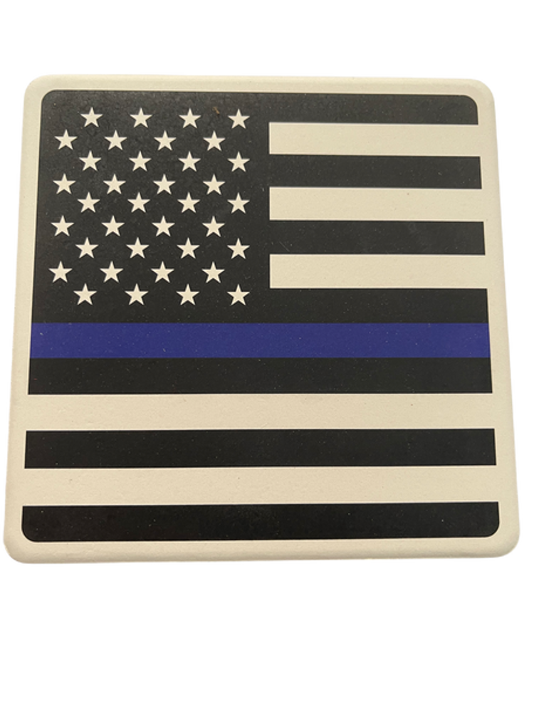 BLUELINE FLAG Square Absorbent Stone Coaster