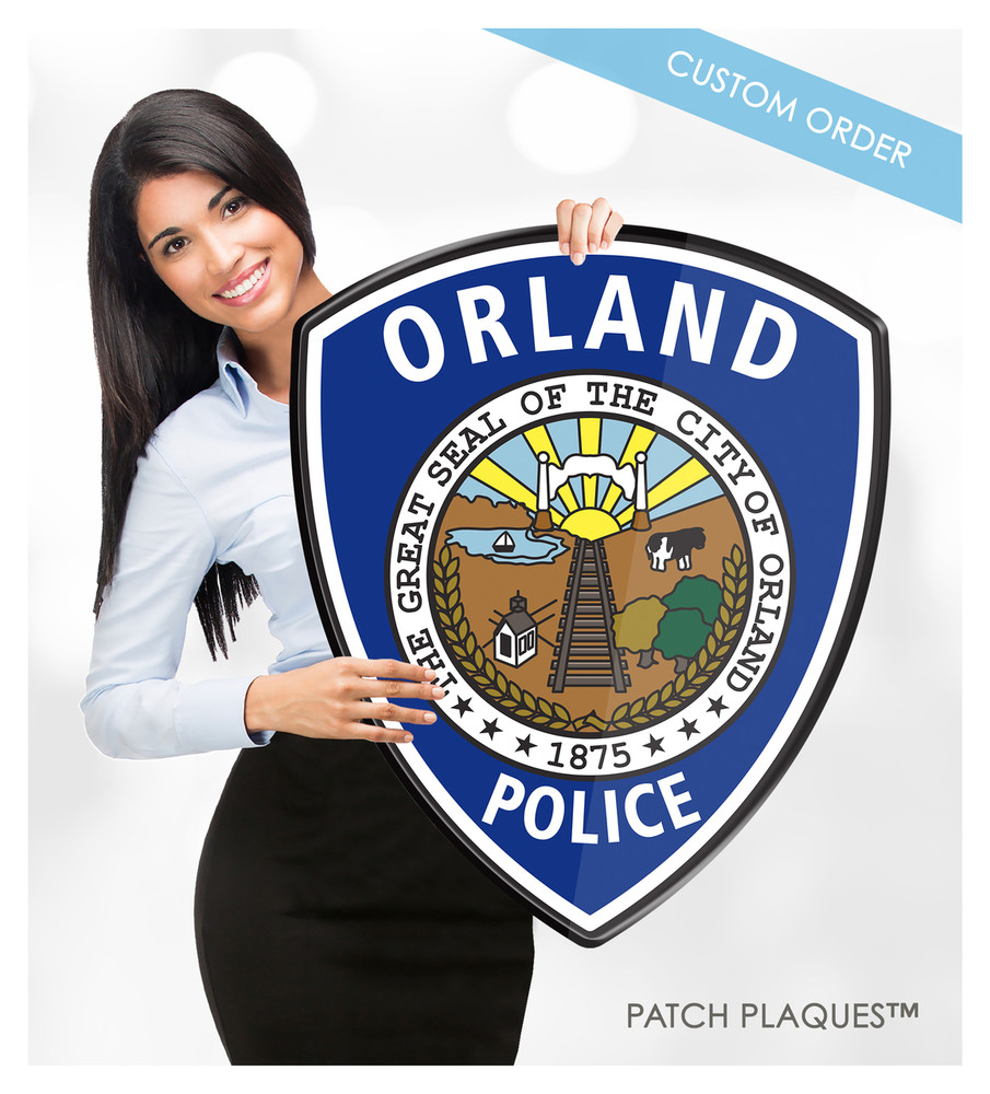 CUSTOM DIGITAL WALL PLAQUE (Law Enforcement)