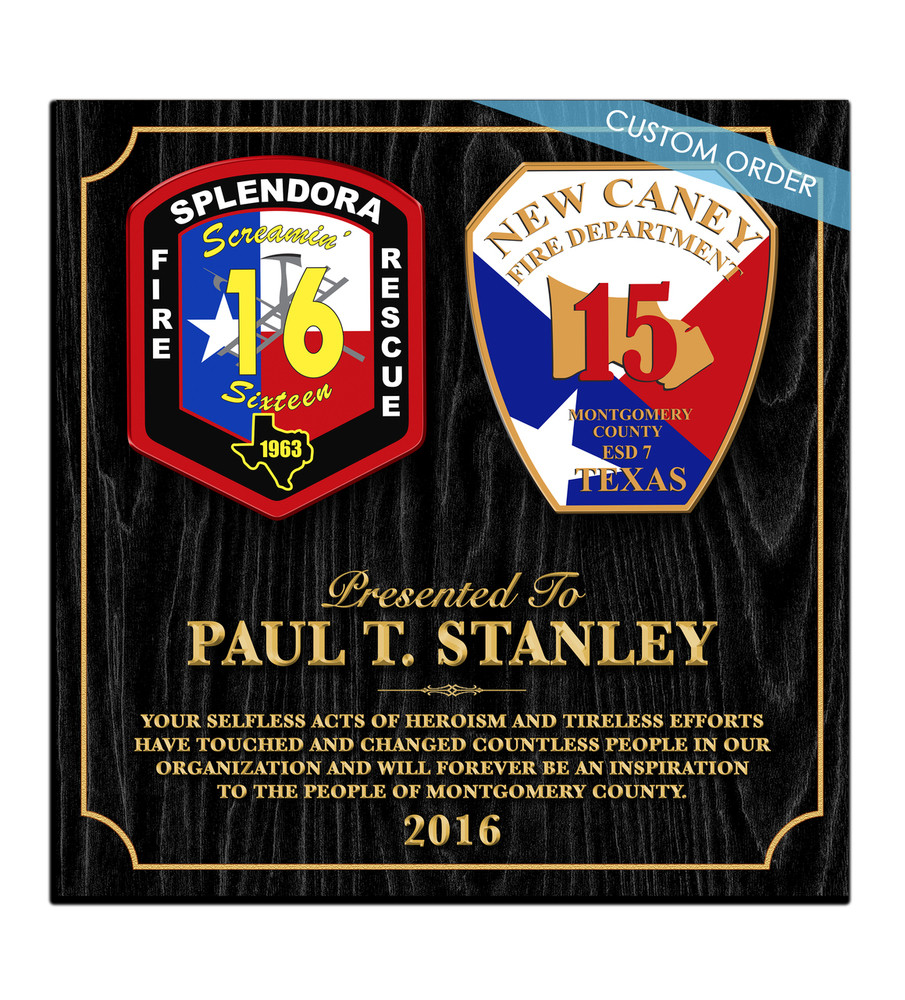 CUSTOM RECOGNITION PLAQUE (B2) COLLAGE - PERSONALIZED