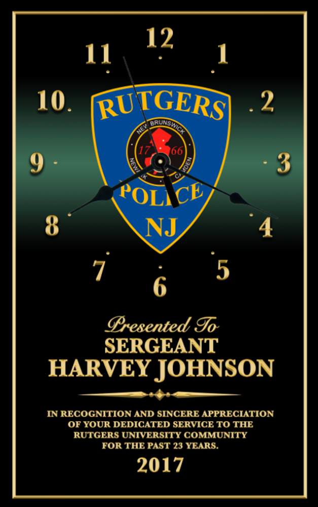 CUSTOM - PERSONALIZED 10X16 RECOGNITION AWARD CLOCK