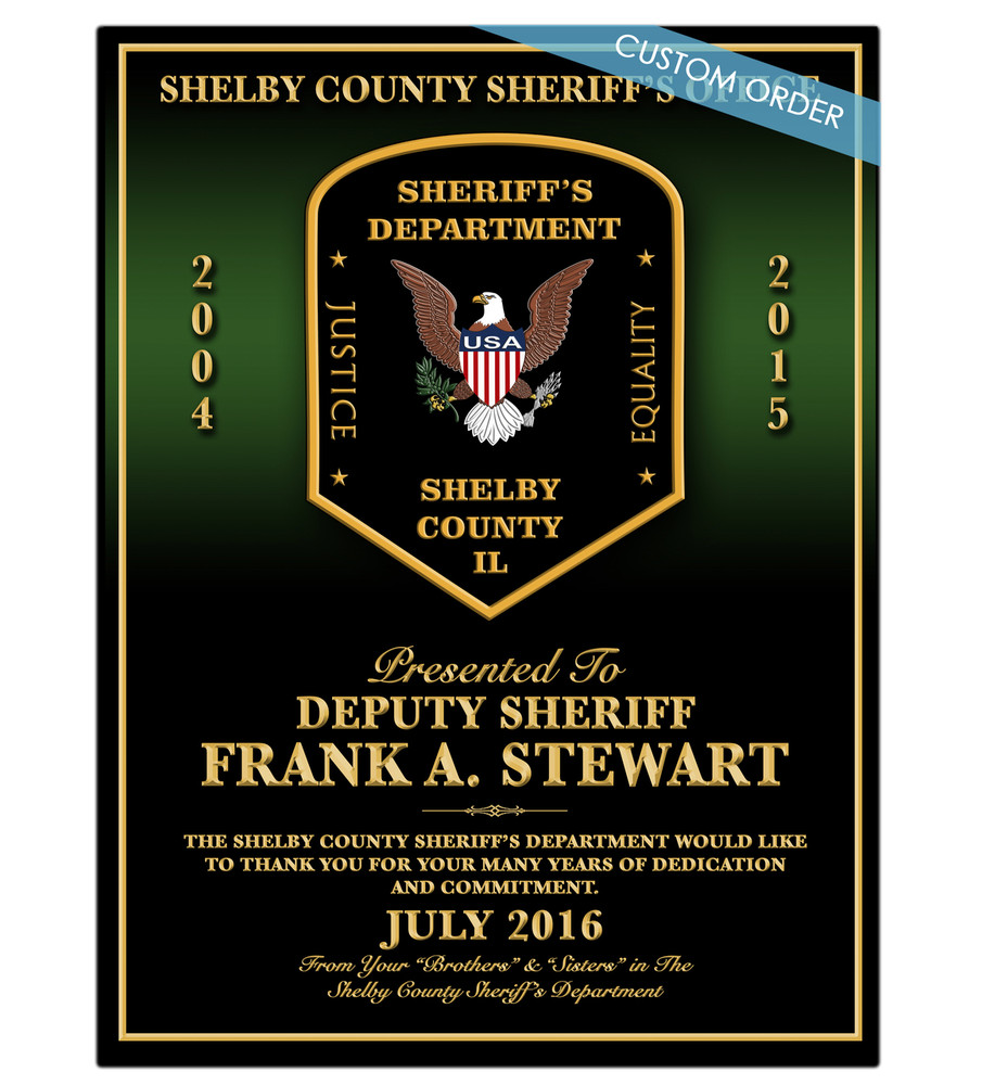 RECOGNITION PLAQUES SHERIFF