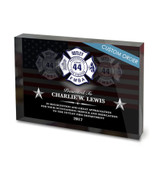USA FLAG ACRYLIC BLOCK RECOGNITION AWARD