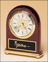 4''x5'' Rosewood Desk Clock
