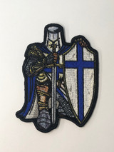 Crusader Knight with Blue Line Patch