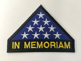 Folded Flag In Memoriam Patch