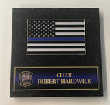 Blue Line Flag Personalized Paperweight